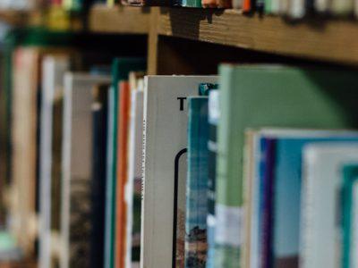 Photograph of books on shelf