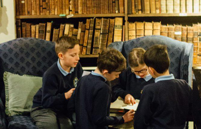 School group reading